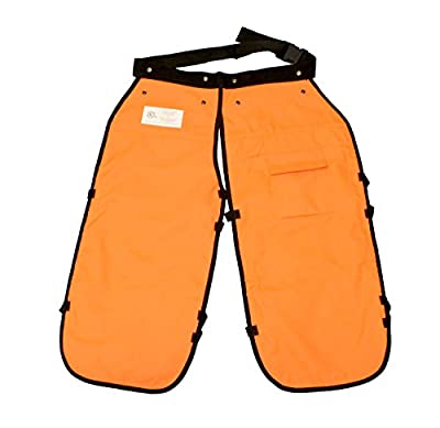 Redneck Convent Safety Chainsaw Chaps – Logging Tools Chainsaw Safety Gear with Pocket, Chainsaw Apron Chaps Style, Orange