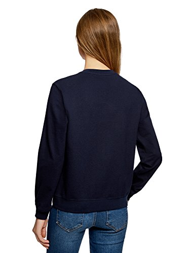 sfuso Ultra blu di Oodji 7900n Women maglione cotone UWPYRBpBqw