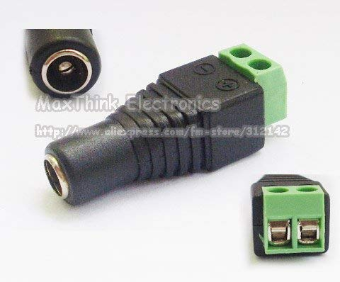 Gimax 2.1mm CCTV camera DC Power Female Jack Connector Plug for CCTV Camera 500pcs, by GIMAX (Image #1)