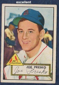 1952 Topps Regular (Baseball) Card# 220 Joe Presko of the St. Louis Cardinals Ex Condition ()