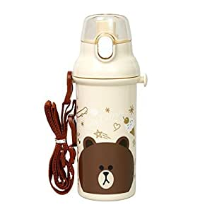 Direct Drinking Water Bottle purawantatti Bottle 480ml Line Friends Brown PSB5SAN