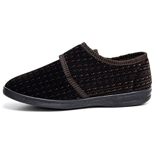 Zapatos Dr Keller de hombre con tira de velcro, color negro. , color negro, talla 40 2/3