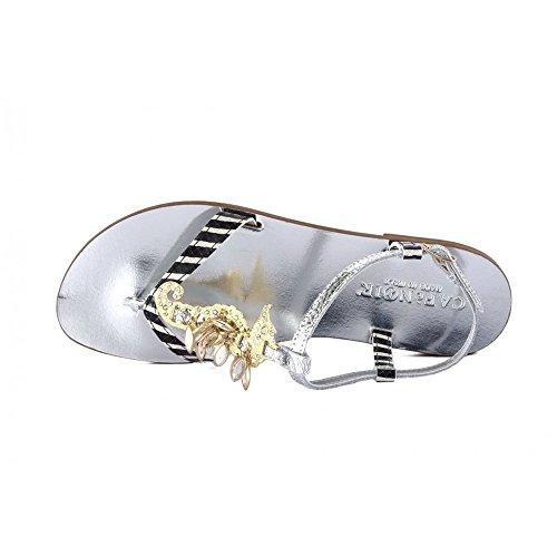CAFèNOIR Flip Flops laminiert mit Seepferdchen Silber gl925–Cafè Noir