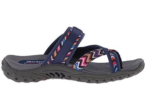Zig Swag Femme Tongs Skechers Reggae Multi Navy ZSqwTRTx