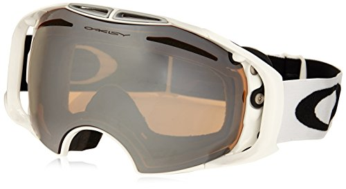 Oakley OO7037-34 Airbrake Eyewear, Polished White, Black Iridium - Oakley White Black Polished Iridium