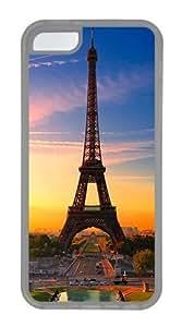 IMARTCASE iPhone 5C Case, Eiffel Tower Paris Sunrise Case for Apple iPhone 5C hard - White