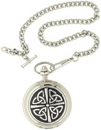 Triquetra Celtic Knot 17 Jewel Full Hunter Mechanical Pocket Watch PW06