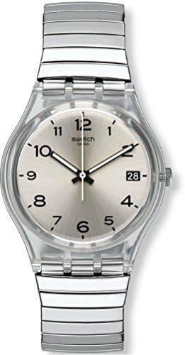 Swatch Women's Digital Quartz Watch with Stainless Steel Bracelet - GM416A