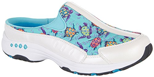 Easy Spirit Womens Traveltime Turtles 245 Athletic Mules
