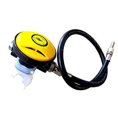 OUYAWEI Diving Breathing Regulator Secondary Pressure Reducer Respirator Diving Mouth Bite Scuba for Diving Snorkeling Underwater Rescue Fisheries Breeding