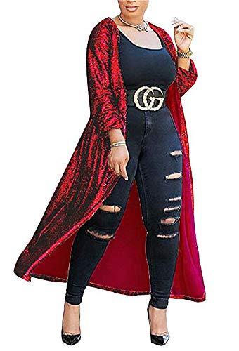 PROMLINK Women Long Sleeve Sequin Blazer Jacket Sparkly Bomber Coat,Black