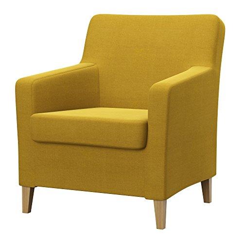 Soferia - IKEA KARLSTAD armchair cover old model, Elegance Dark Yellow