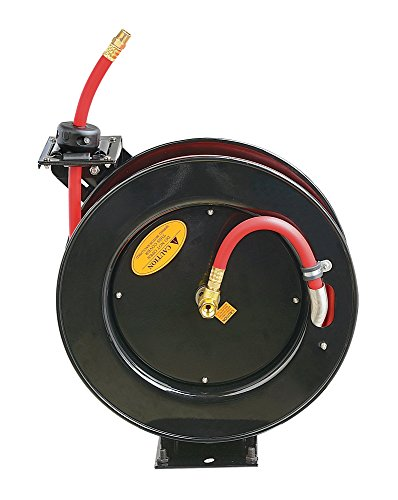 ReelWorks L805083A Steel Retractable Air Compressor/Water Hose Reel with 3/8