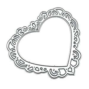 Yunhigh Troqueles Scrapbooking Amor Forma de corazón Molde Acero al Carbono Cortador de Repujado Muere Artesanía de Metal para DIY Álbum de Recortes Álbum ...