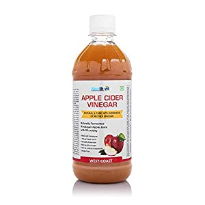 HealthVit Apple Cider Vinegar with Mother Vinegar, Raw, Unfiltered and Undiluted – 500 ml
