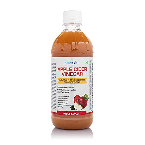 Healthvit Apple Cider Vinegar with Mother Vinegar,Raw,Unfiltered and Undiluted-500 Ml from Healthvit