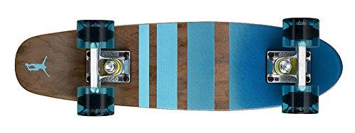 Ridge Erwachsene Maple Holz Mini Cruiser Number Three Skateboard, Clear Blue, MPB-22-NR3