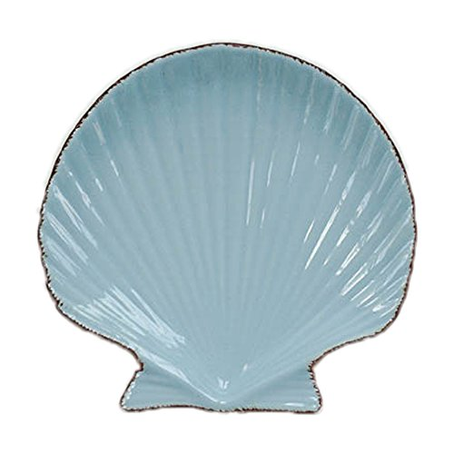 Japanese Ocean Style Shell Shaped Small Ceramic Dessert Plate Dinner Dish Porcelain Breakfast Serving Tray Bread Butter Fruit Plate Salad Plate Platter Microwave Safe Home Decor ()