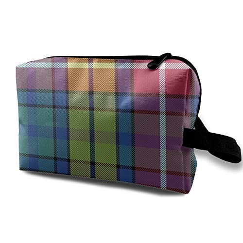 FEAIYEA Buchanan Ancient Tartan Travel Bag Printed Multifunction Portable Toiletry Bag Cosmetic Makeup Pouch Case Organizer