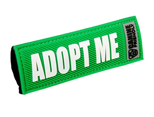 "Canine Friendly 1"" Bark Notes 'Adopt Me' Patch for Collar or Leash"