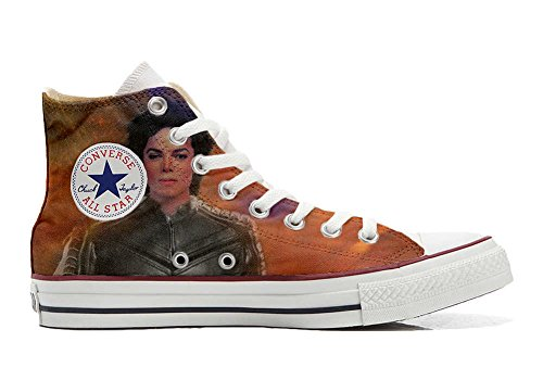 Converse Customized Chaussures Personnalisé et imprimés UNISEX (produit artisanal) The King of the rock - size EU45