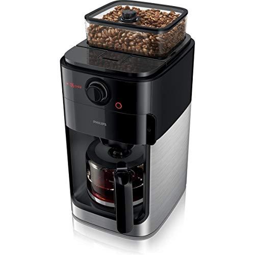 Philips HD7767/00 Grind und Brew Filter – Cafetera de plástico, 1,2 litros, acero inoxidable/negro