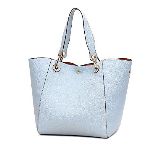 Shopping Handbags Sacs main SIFINI tout Sacs Working clair pour bandoulière fourre Sacs à en Travelling dames pour femmes de Sacs Satchel Sacs à cuir Embrayages bleu voyage Sacs pour wSn5ROxqxI