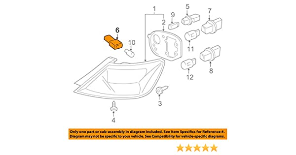 33513s2a003 33513-s2a-003 t10 honda acura  bulb socket tail light taillight