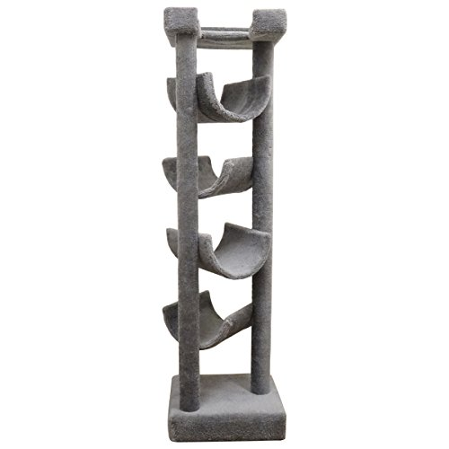 (New Cat Condos Premier Solid Wood 6-Foot Skyscraper Cat Tree, Gray)