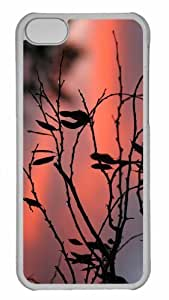 Customized iphone 5C PC Transparent Case - Tree Twigs Twilight Personalized Cover