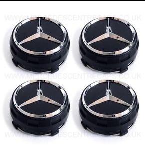 4 x Exclusivo Edición limitada AMG Burnt Negro Mercedes centro de rueda Caps 75 mm a B C D S SLK A45 AMG: Amazon.es: Coche y moto