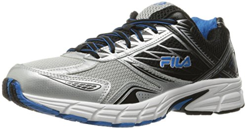 Image of the Fila Men's Royalty 2 Running Shoe, Metallic Silver/Black/Electric Blue, 11 M US