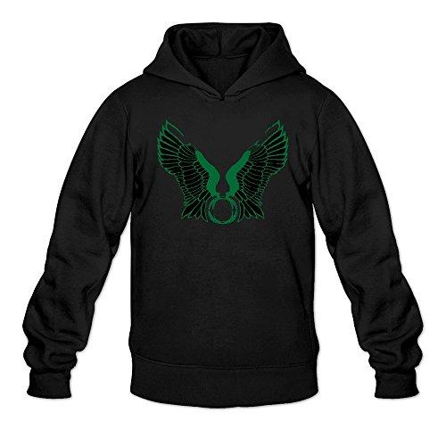 Mens Oregon Ducks Wings Logo Hoodie Black 100% Cotton