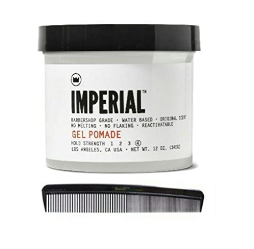 Imperial Barber Products Gel Pomade 12oz with BraidZ Comb (Imperial Barber Gel compare prices)