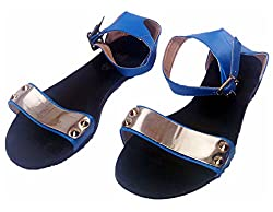 Rosegirl BRAND NEW Slingback Sandals (B1858) (5, Blue)