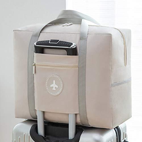 Waterproof Foldable Travel Luggage Bag - Lightweight Zipper Duffle Tote Bag for Women (khaki) ()