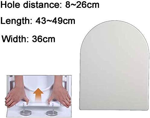 便座ふた便座、尿素ホルムアルデヒド普遍的な降順ミュート厚くU形の便座カバーと継手、ホワイトD