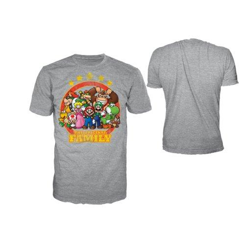 Nintendo T-Shirt -S- The Original Family (grau)