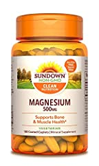 Sundown Naturals Magnesium 500 mg provides you with a convenient one per day dose of this important mineral. Magnesium is essential for bone structure and supports bone health.* It also promotes muscle health, and is involved in nerve impulse...