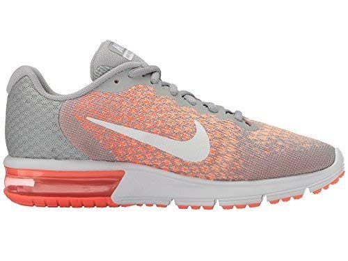 Nike Air Max Sequent 2 Wolf Grey/White/Bright Mango/Sunset Glow Women's Running Shoes 5.5 by Nike (Image #4)