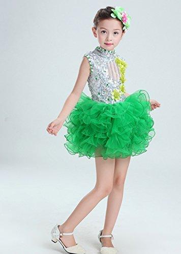 83d7ba775e2d2 ダンス 衣装 キッズ スパンコール ダンス衣装 ワンピース 子供 女の子 社交ダンス 衣装 チュチュスカート ジャズダンス