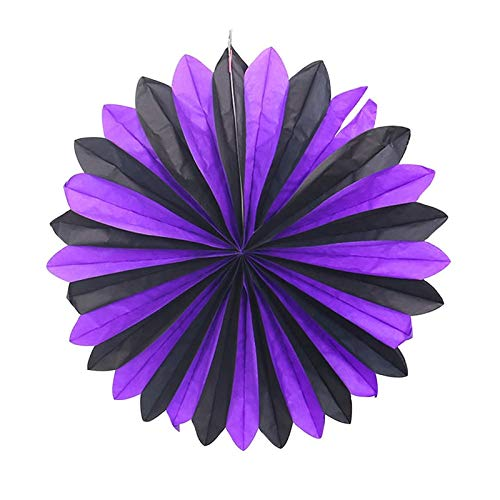 Party Diy Decorations - Halloween Decorations Honeycomb Paper Fan Tissue Flower Horror Decoration Party - Halloween Mascara Costum Horror Pumpkin Craft Supplies Pinwheel Child Event]()