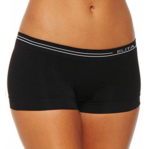 Elita Signature Seamless Low Rise Boyleg Panty (S816) S/Black ()