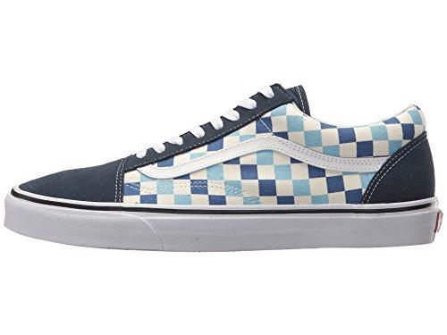 Vans U Old Skool (QCM) (Checkerboard) Blue Topaz/Blue (13 Women/11.5 Men M US) by Vans (Image #5)