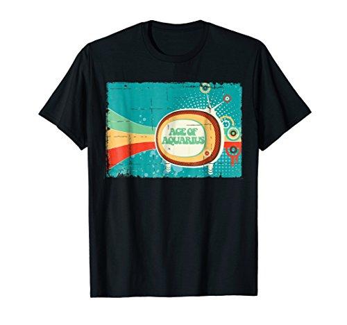 (Age of Aquarius Distressed Retro Album Cover T Shirt)