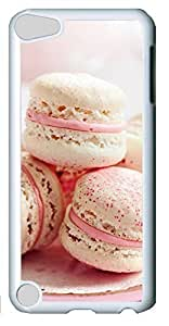 Fashion Customized Case for iPod Touch 5 Generation White Cool Plastic Case Back Cover for iPod Touch 5th with Strawberry Macarons Kimberly Kurzendoerfer