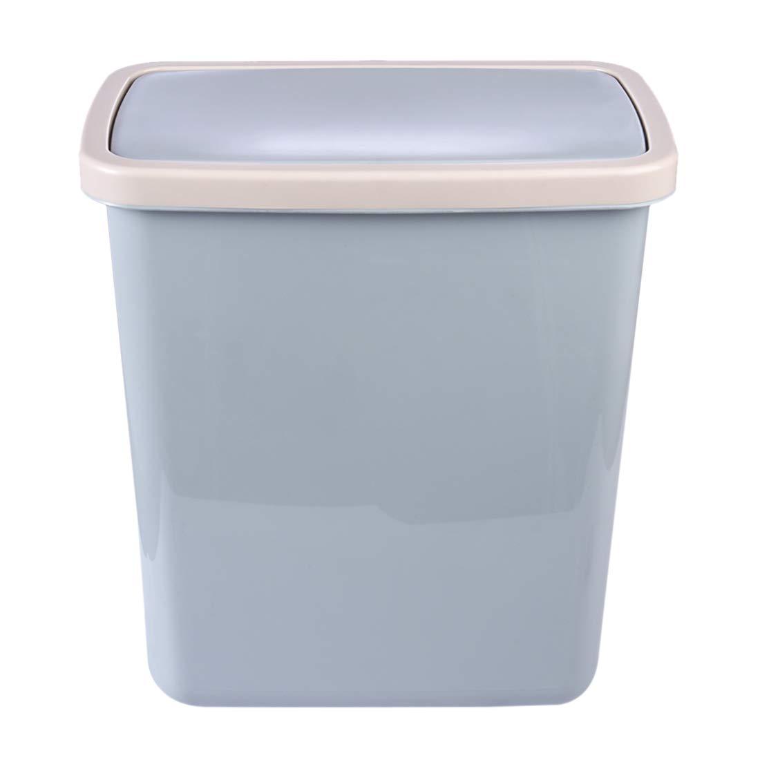 9L Cubo de Basura de Pl/ástico Cesta de Papel con Tapa 15,5 x 26,5 x 30 cm Cocina o Ba/ño Papelera de Oficina iVansa Papelera de Reciclaje