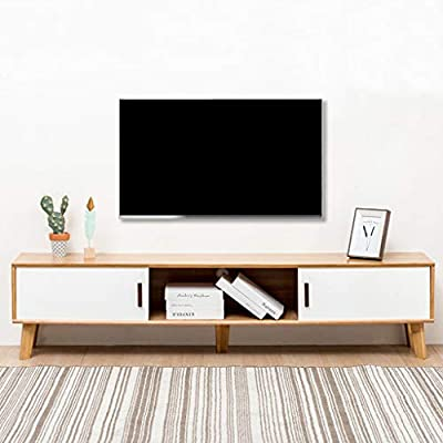 TV de madera soporte de almacenamiento de la consola de entretenimiento Center Console Televisión Medios Componente Soporte de TV de entretenimiento Soporte de televisión Mesa con almacenamiento abier: Amazon.es: Hogar
