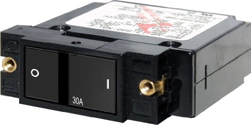 Blue Sea Systems A-Series Flat Rocker Single Pole 30A Circuit Breaker