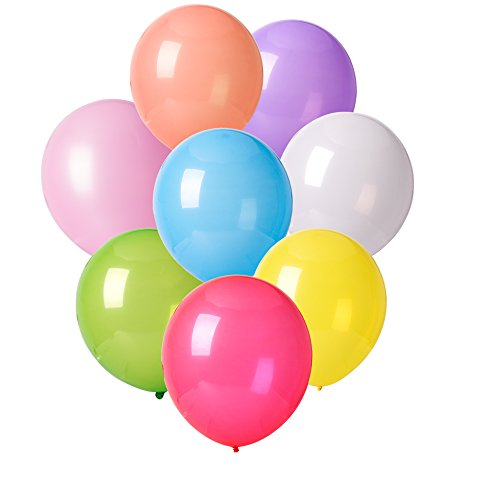 MESHA¨ 12 Inches Assorted Color Party Balloons (144 Pcs) Very High Quality - USA SELLER